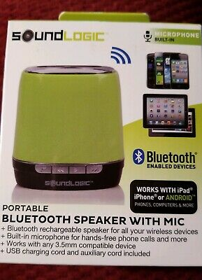 SOUNDLOGIC PORTABLE BLUETOOTH Speaker with Mic Hot Pink