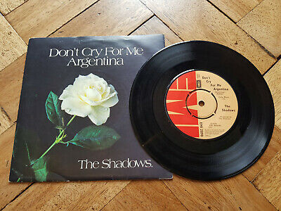 "the shadows dont cry for me argentina 7"" vinyl record"
