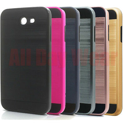 For Samsung Galaxy J7 V Shockproof Rugged Armor Slim Bumper Case Cover
