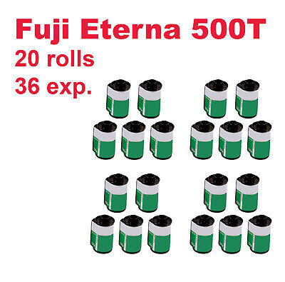 Fuji 35mm Eterna 500T Motion Picture Film. 20 rolls / 36 exp. Deep freeze stored