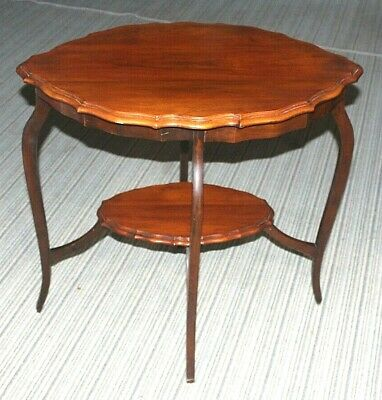 Early 20th Century Oval 2 Tier Mahogany Occasional Table with Moulded edges