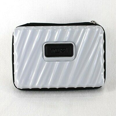 "Tumi for Delta Hard Sided Toiletry Travel Case Gray Zip Around 7"" x 5"""