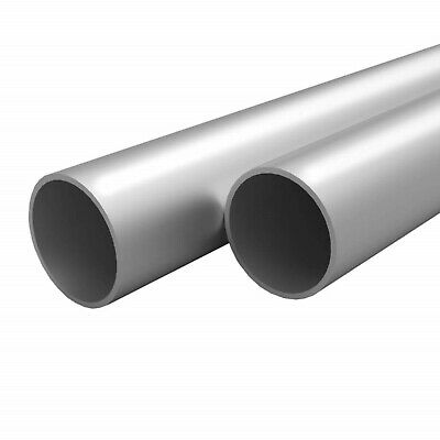 Round Aluminium Pipes Hollow Tubes Alloy with Mill Finish 197cm 4 Pieces
