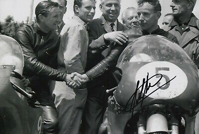 John Surtees Hand Signed 12x8 Photo - MotoGP Autograph 2.