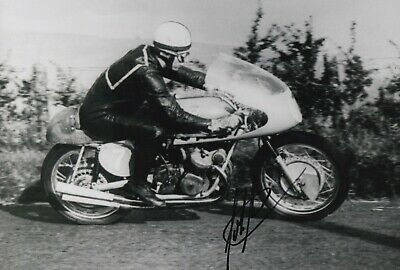 John Surtees Hand Signed 12x8 Photo - MotoGP Autograph 3.