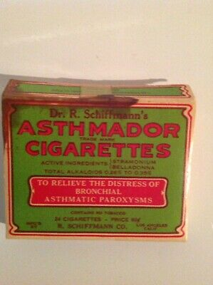 asthmador cigarettes medical quackery