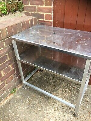 Used Stainless Steel Commercial Table With Shelf