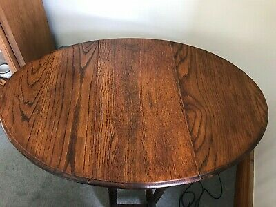 Antique Or Vintage Barley Twist Table - Drop Leaf - Small Side Occasional