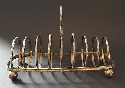 Silver plate electroplate vintage Victorian antique toastrack / toast rack