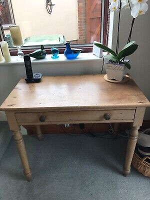 ANTIQUE or VINTAGE SOLID PINE CONSOLE HALL DRESSING TABLE DESK