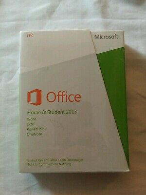 Office Home & Student 2013 Key Card 1PC/1User. German version