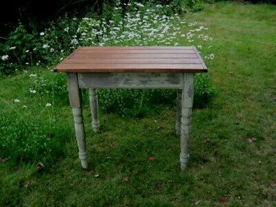 Antique Vintage 'Shabby Chic' Pine Wooden Farmhouse/Country Kitchen Table