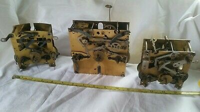 vintage ENFIELD clocks movements X 3-spares/parts