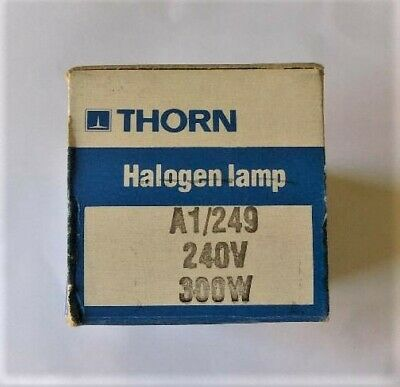 Thorn Halogen Lamp A1/249,  240V / 300W. Price is for one. 6 available.