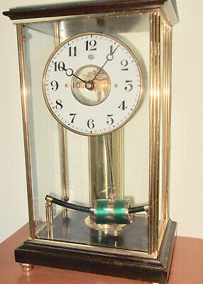 Antique French Bulle 4 Glass Mantel Clock