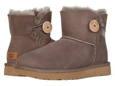 3385a4fbfcc UGG MINI BAILEY Button II Women's Sheepskin Boots in Size 5 Stormy ...