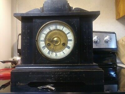 Vintage Strike Clock. Hamburg American Clock Co.
