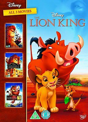 THE LION KING - Complete Trilogy 1-3 (1 2 3) Walt Disney DVD NEW