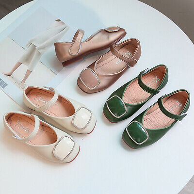 Girls Children Kids Leather Casual Party Princess Shoes Bridesmaid Sandals Size