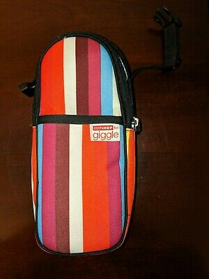 Giggle Stripe Bottle Holder Thermal Insulated Can Cooler Baby Bottle Holder EUC