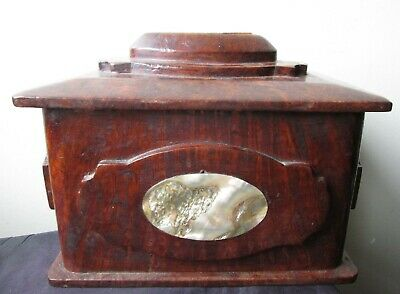 Antique CHINESE Qing Dynasty BURL huali HARD WOOD Scholar's BOX ABALONE inlay
