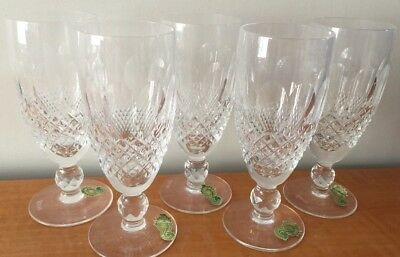 Vintage Five(5) Waterford Crystal Colleen Short Stem Champagne Glasses in Box