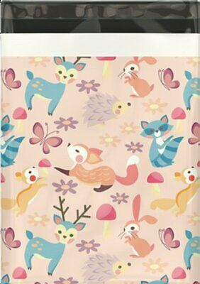 10x13 ( Woodland Critters ) Boutique Designer Poly Mailer Bags Fast Shipping