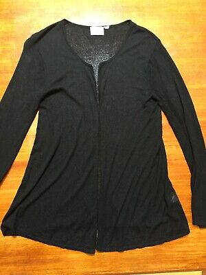 RIPE Maternity black light weight Cardigan Size M, EUC long line open front