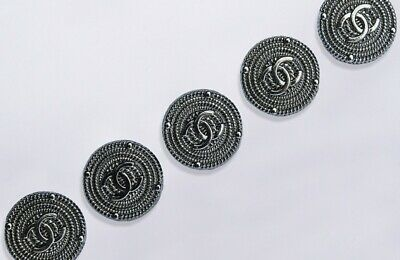 CHANEL BUTTONS 💔💞💝💖 lot of 5 size 24 mm 1inch logo CC Metal