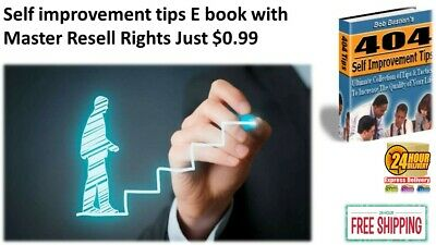 Self Improvement Tips E book PDF with Master Resell Rights Just $0.99