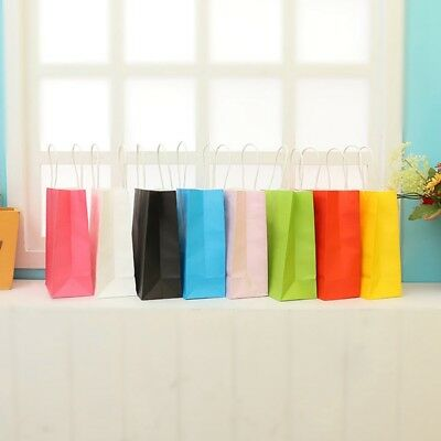 10 Colors party Paper Carrier Bag Wedding Treat with handle Fashion loot bag New