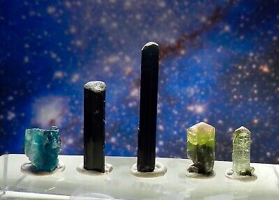 Lot Mixed Natural Tourmaline Crystal Specimens 16cts L5