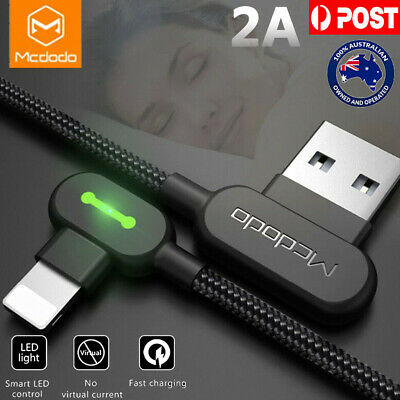 1.8M MCDODO 90 Degree Right Angle USB Charger lightning Cable Apple iPhone  iPad