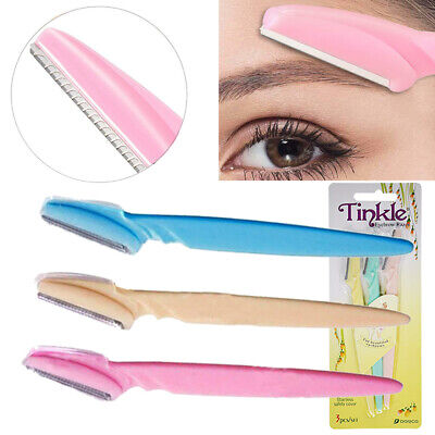 3/18PC Women Tinkle Face Eyebrow Hair Removal Safety Razor Trimmer Shaper Shaver