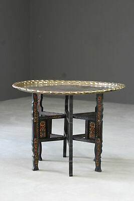Eastern Brass Tray Table
