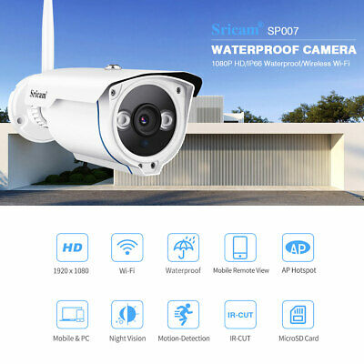 Sricam SP007 1080P Security IP Wifi Camera Night Vision Smart Outdoor Wireless
