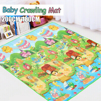 2mx1.8m Baby Kids Floor Play Mat Rug Picnic Cushion Crawling Mat Waterproof