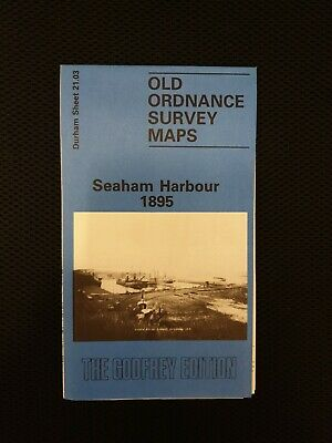 OLD ORDNANCE SURVEY MAPS SEAHAM HARBOUR CO DURHAM  1895  Godfrey Edition