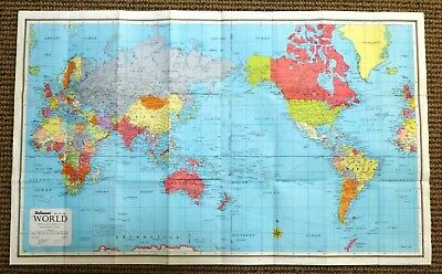 1961 Vintage Robinson's MAP OF THE WORLD - A Collector's Delight