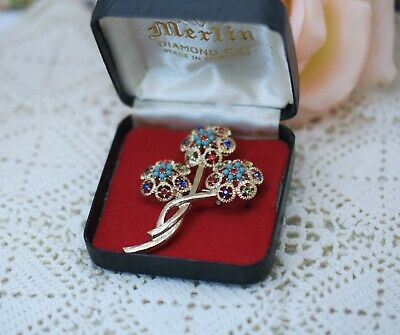 Vintage Jewellery Gold Brooches  Antique Art Deco Jewelry