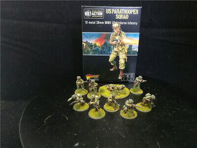 Painted Bolt Action WW2 US paratrooper Squad US Airborne Infantry Warlord Games