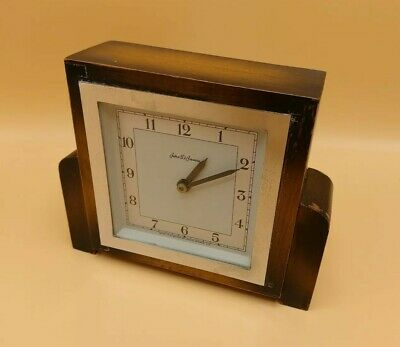 Art Deco Mantle Clock By John D Francis - 1925 - England - Genuine Antique