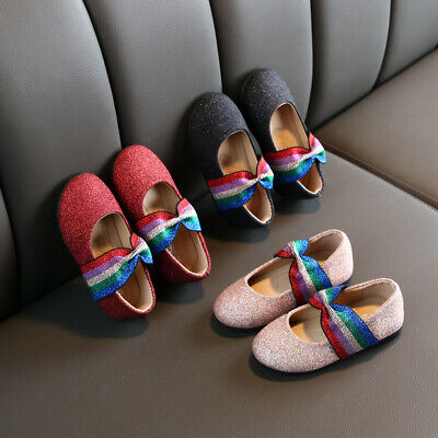 New Toddler Kids Baby Girls Sandal Rainbow Butterfly Knot Princess Casual Shoes