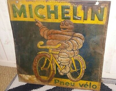 Plaque-No-Emaillee-Tole-Peinte-Michelin/De Andreis Marseille/Double Faces Velo