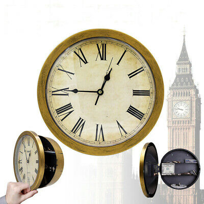 WALL CLOCK WITH SECRET SAFE Compartments Hidden Stash Money Cash Security Box IB