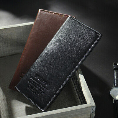 Mens Luxury Soft PU Leather Wallet Credit Card Holder Clutch Bifold Purse Gift