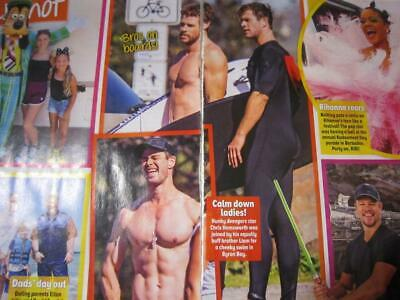 CHRIS HEMSWORTH Liam Hemsworth 2 Pg AUG 2019*Magazine Clipping*Surfing Byron Bay