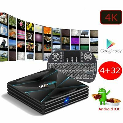 Android 9.0 PIE Smart TV Box Media TV Player USB HDMI WiFi 4K HK1 Play 32GB
