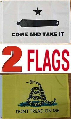 2x3 Come and Take It Flag Dont Tread On Me Flag Wholesale 2 Flag Set Gadsden