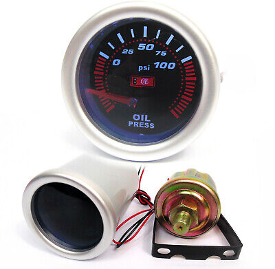 52mm Smoked Face Oil Pressure gauge OilP1